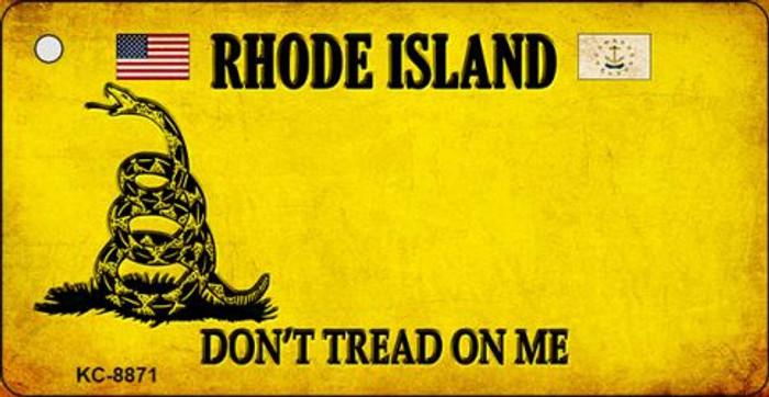 Rhode Island Don't Tread On Me Novelty Key Chain