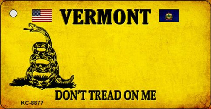 Vermont Don't Tread On Me Novelty Key Chain