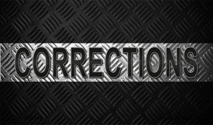 Corrections Novelty Metal Magnet
