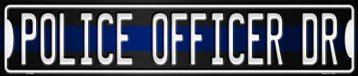 Police Officer Dr Metal Novelty Street Sign