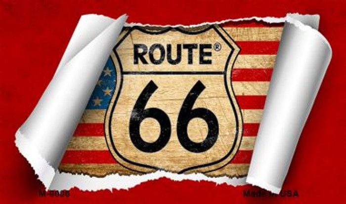 Route 66 Sroll Novelty Metal Magnet