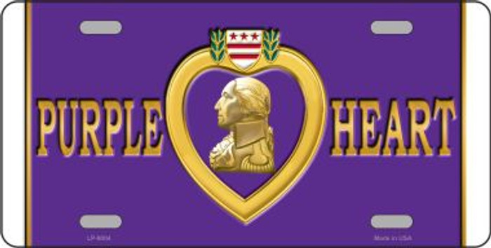 Purple Heart Novelty Metal License Plate