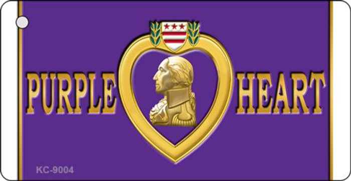 Purple Heart Novelty Metal Key Chain