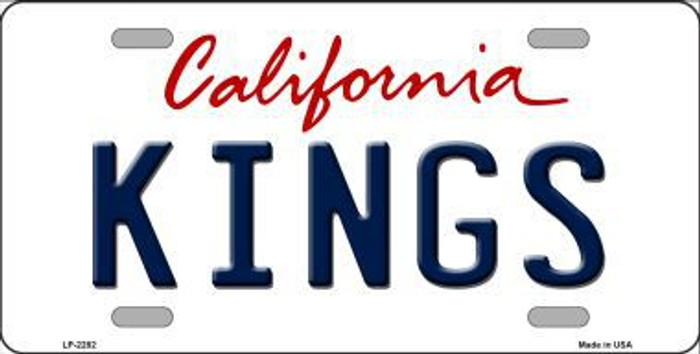 Kings California Novelty State Background Metal License Plate