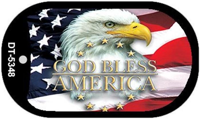 "God Bless America Flag Dog Tag Kit 2"" Metal Novelty Necklace"