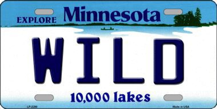 Wild Minnesota State Background Metal License Plate