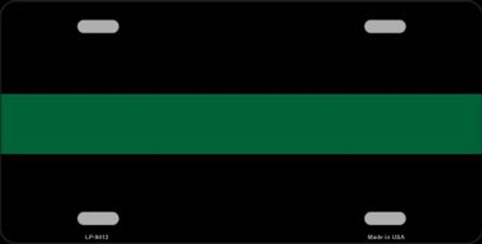 Thin Green Line Novelty Metal License Plate