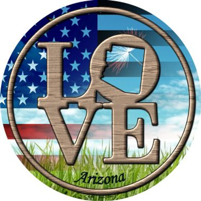 Love Arizona Novelty Metal Circular Sign