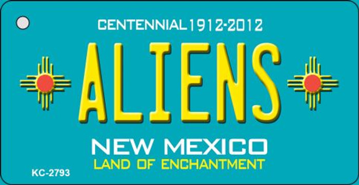 Aliens New Mexico Teal Novelty Key Chain