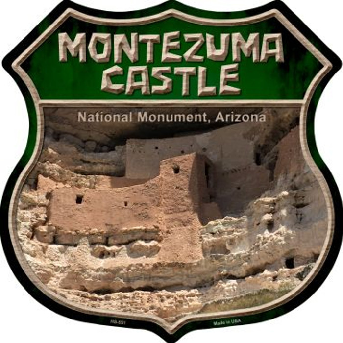 Montezuma Castle Metal Novelty Highway Shield