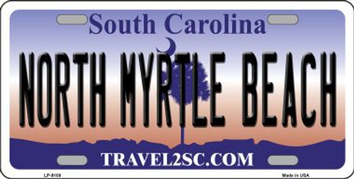 North Myrtle Beach Flag Novelty Metal License Plate