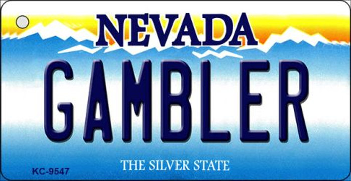 Gambler Nevada Background Novelty Key Chain