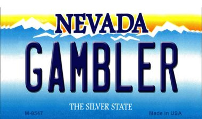 Gambler Nevada Background Novelty Metal Magnet