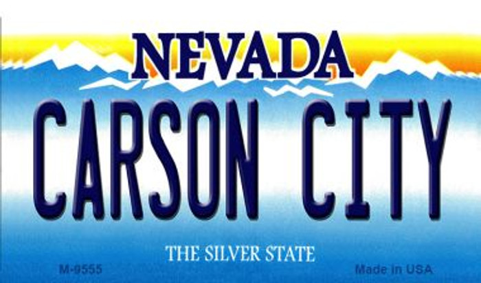 Carson City Nevada Background Novelty Metal Magnet