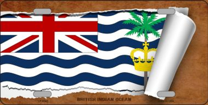 British Indian Ocean Flag Scroll Novelty Metal License Plate