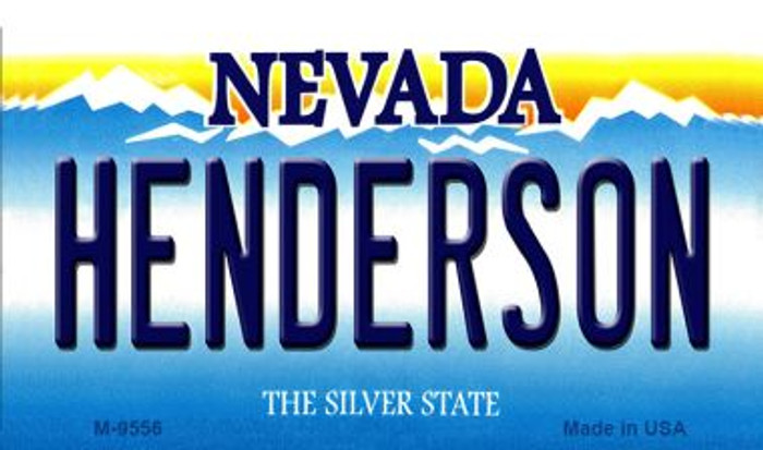 Henderson Nevada Background Novelty Metal Magnet