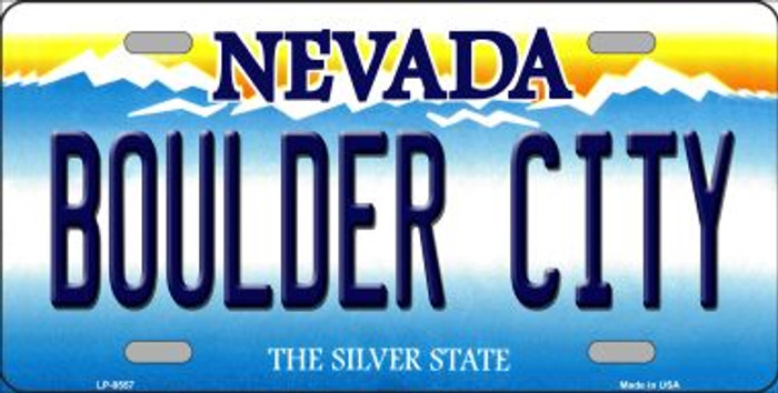 Boulder City Nevada Background Novelty Metal License Plate