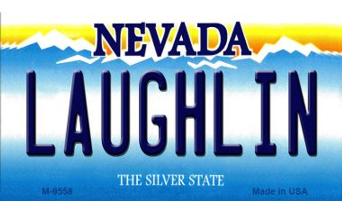 Laughlin Nevada Background Novelty Metal Magnet
