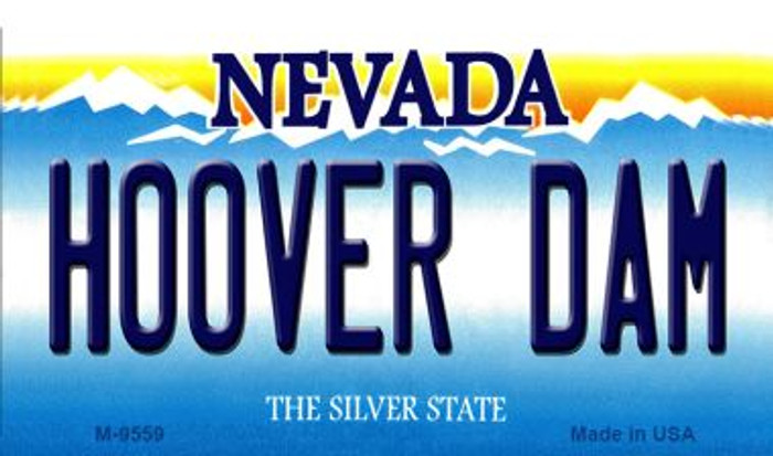 Hoover Dam Nevada Background Novelty Metal Magnet