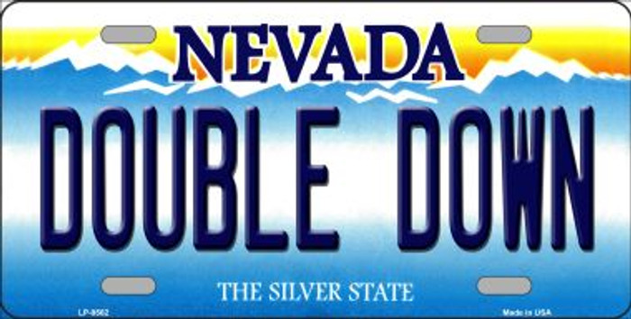 Double Down Nevada Background Novelty Metal License Plate