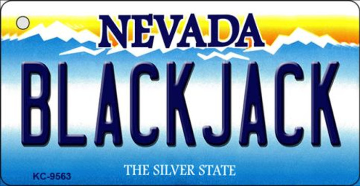 Black Jack Nevada Background Novelty Key Chain