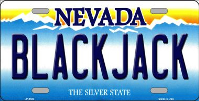 Black Jack Nevada Background Novelty Metal License Plate