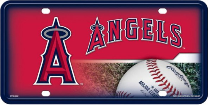Anaheim Angels Metal Novelty License Plate LP-5604
