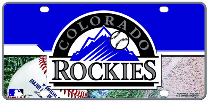 Colorado Rockies Metal Novelty License Plate