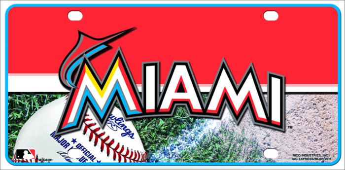 Miami Marlins Metal Novelty License Plate