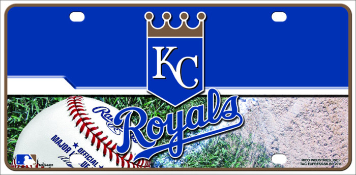 Kansas City Royals Metal Novelty License Plate