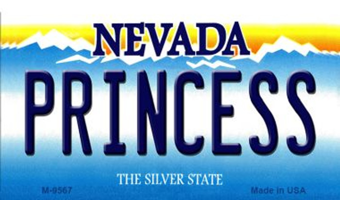 Princess Nevada Background Novelty Metal Magnet
