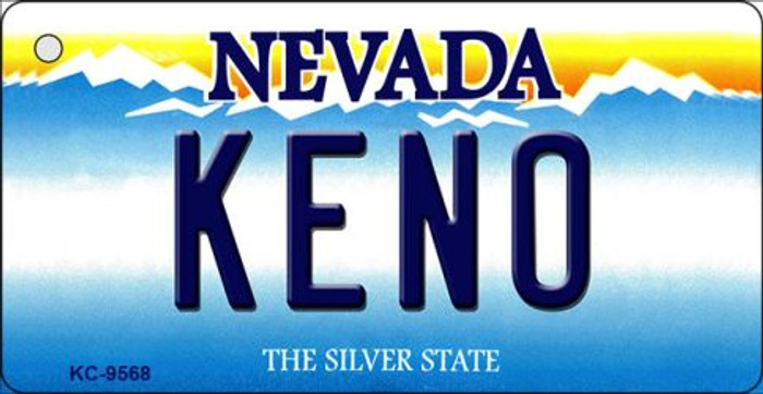 Keno Nevada Background Novelty Key Chain