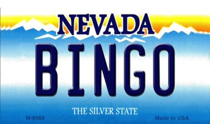 Bingo Nevada Background Novelty Metal Magnet