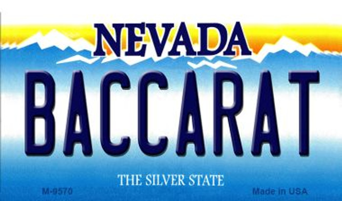 Baccarat Nevada Background Novelty Metal Magnet
