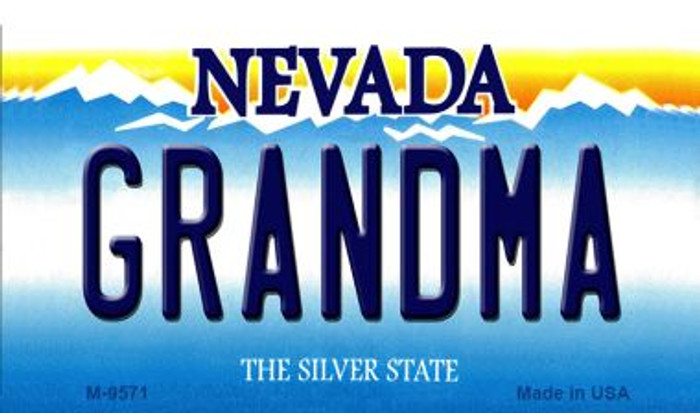 Grandma Nevada Background Novelty Metal Magnet