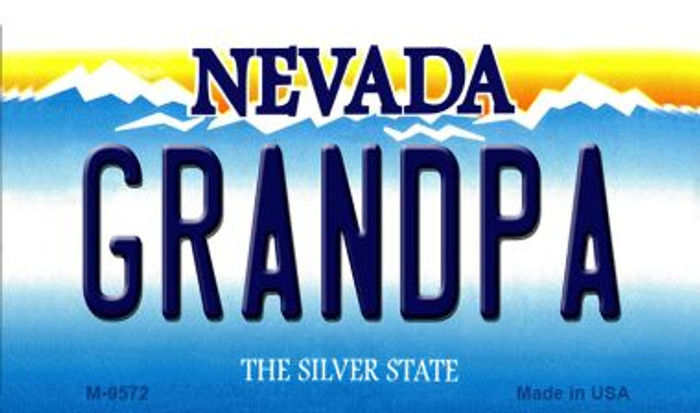Grandpa Nevada Background Novelty Metal Magnet