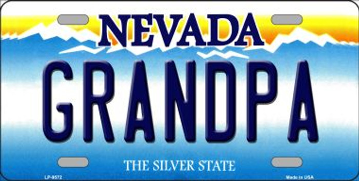 Grandpa Nevada Background Novelty Metal License Plate