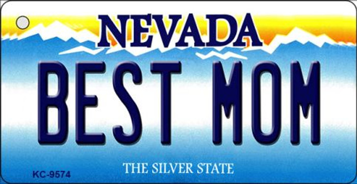 Best Mom Nevada Background Novelty Key Chain