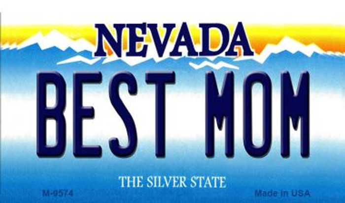 Best Mom Nevada Background Novelty Metal Magnet