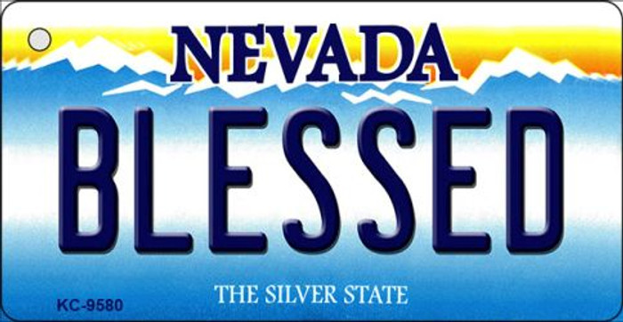 Blessed Nevada Background Novelty Key Chain