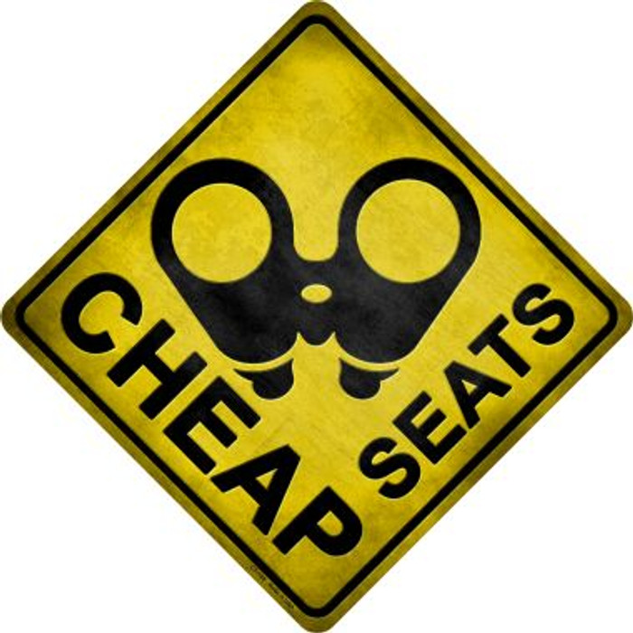 Cheap Seats Novelty Metal Crossing Sign