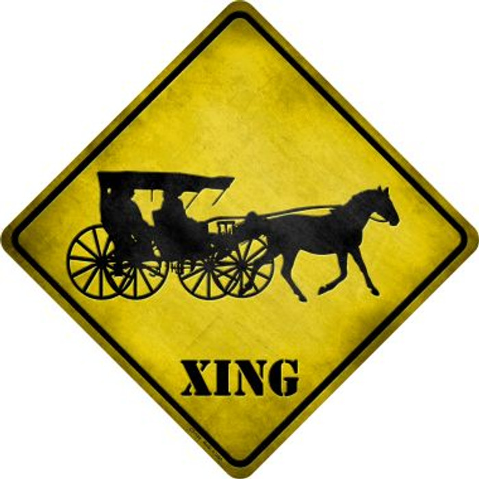 Carriage Xing Novelty Metal Crossing Sign