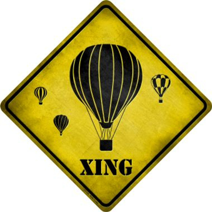 Air Balloon Xing Novelty Metal Crossing Sign