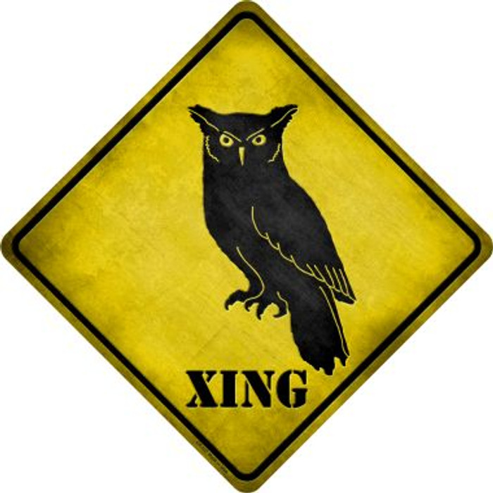 Owl Xing Novelty Metal Crossing Sign