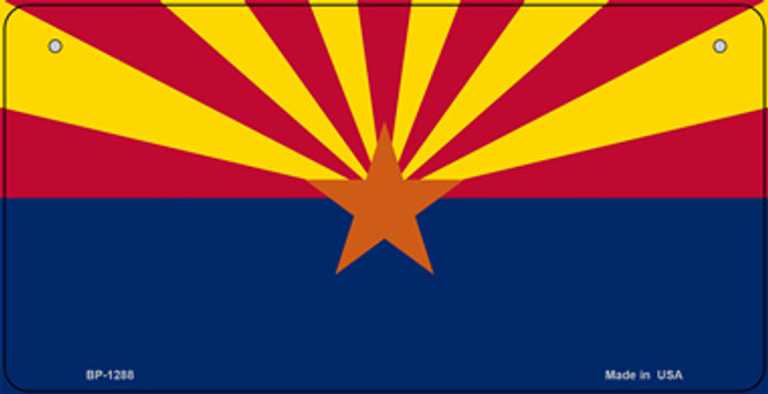 Arizona State Flag Novelty Metal Bicycle License Plate Tag BP-1288