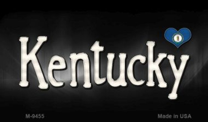 Kentucky Flag Script Novelty Metal Magnet