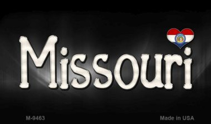 Missouri Flag Script Novelty Metal Magnet
