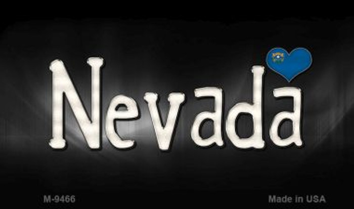 Nevada Flag Script Novelty Metal Magnet