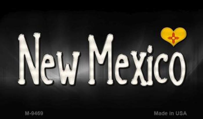 New Mexico Flag Script Novelty Metal Magnet