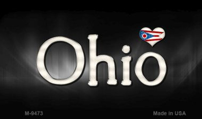 Ohio Flag Script Novelty Metal Magnet